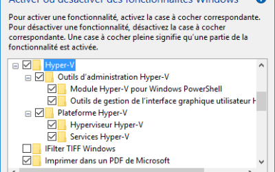 Activer Hyper-V sous Windows 10