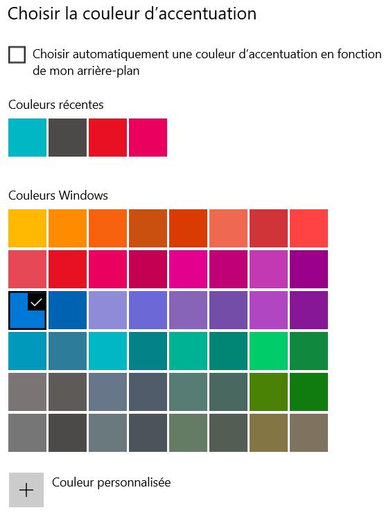 Changer la couleur des tuiles