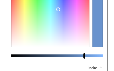 Changer la couleur des fenêtres dans Windows