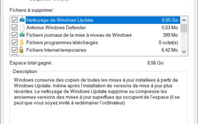 Nettoyer les disques sous Windows 10
