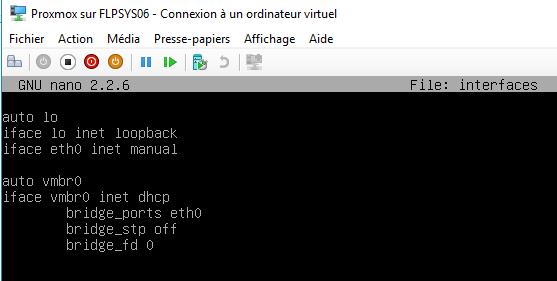 Configuration du réseau