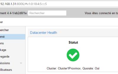 Créer un cluster avec Proxmox VE v4.4