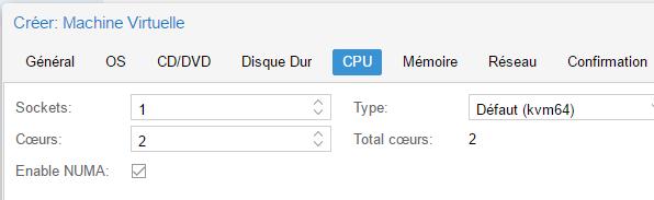 Paramètres CPU
