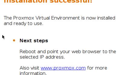 Installer l'hyperviseur gratuit Proxmox VE v4.4