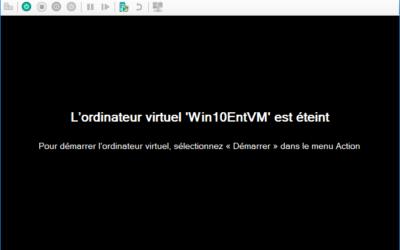 Créer une machine virtuelle avec Hyper-V sous Windows 10